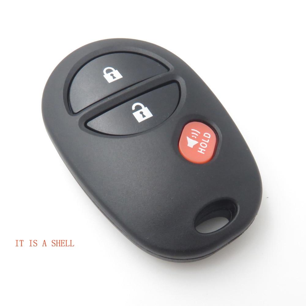 3 кнопки дистанционного ключа оболочки чехол без ключа Fob подходит для TOYOTA TACOMA , TUNDRA Сигнализация замена пустой ключ