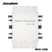 Onduleur solaire avec lien au réseau 1200W, Micro onde sinusoïdale Pure, entrée DC22V-50V vers 110-230v ac, onduleur solaire avec Wi-Fi intégré