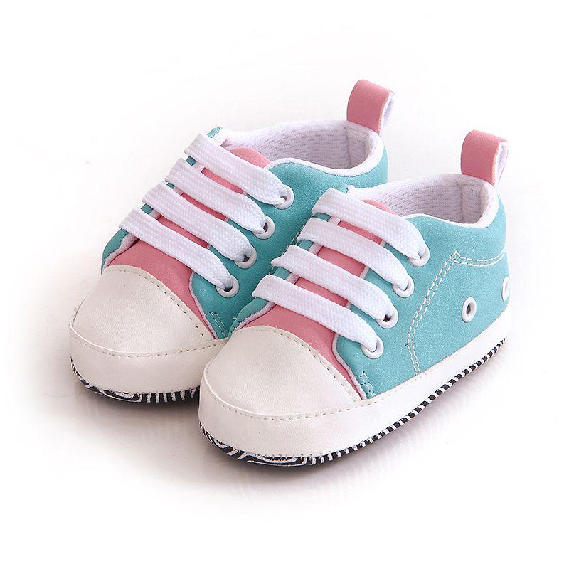 Encantadoras zapatillas de Bebé Zapatos de suela blanda para Recién Nacido niñas niños pequeños cordones suela suave zapatos para regalo de Navidad j2