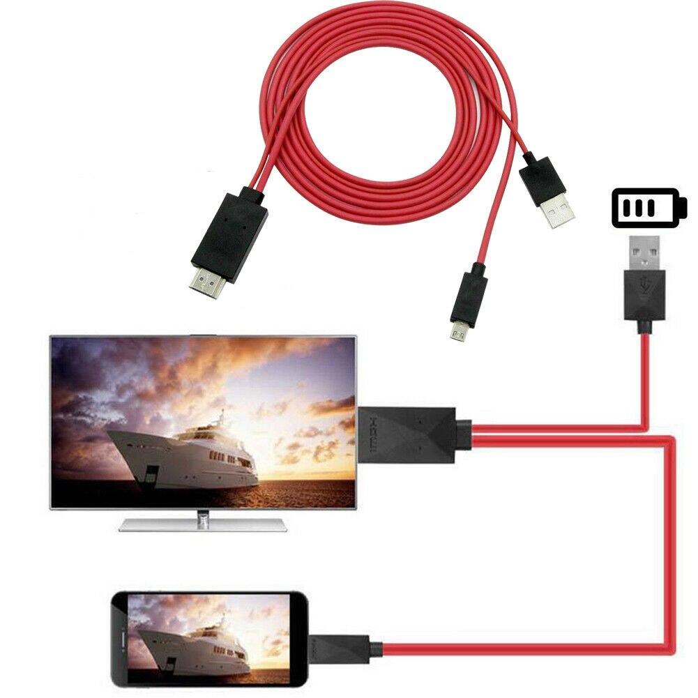 Micro usb para hdmi cabo 1080 p mhl hdtv cabo adaptador conversor para samsung huawei sony htc lg