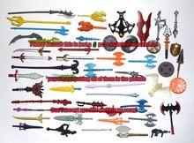 Lote de 5 al azar He-man Motu clásicos figura accesorio de armas
