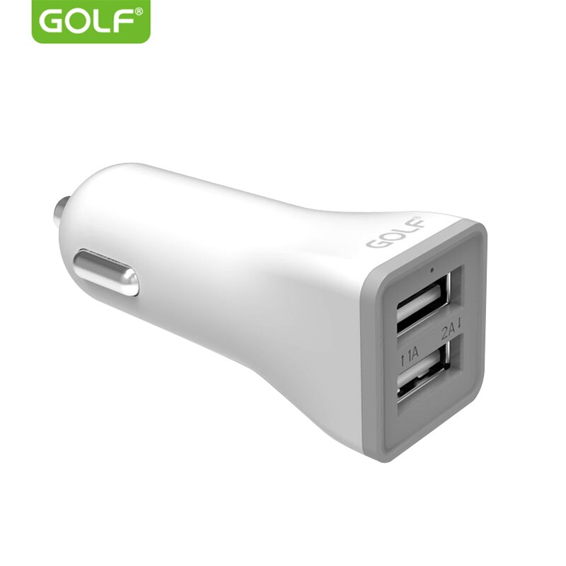 Golf 2a 1a saída usb dupla universal carregador de carro para o iphone 5S 6 s 7 8 x samsung s6 s7 s8 s9 lg g3 g4 g5 g6 telefone usb carregador de carro