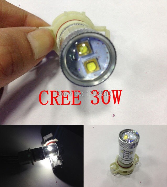 Envío gratis 2 uds Cree Chip 30W Ps19w PS24W H16 LED de alta potencia de estiramiento facial para AUDI A3 S3 8P CanBus Lampen Coche