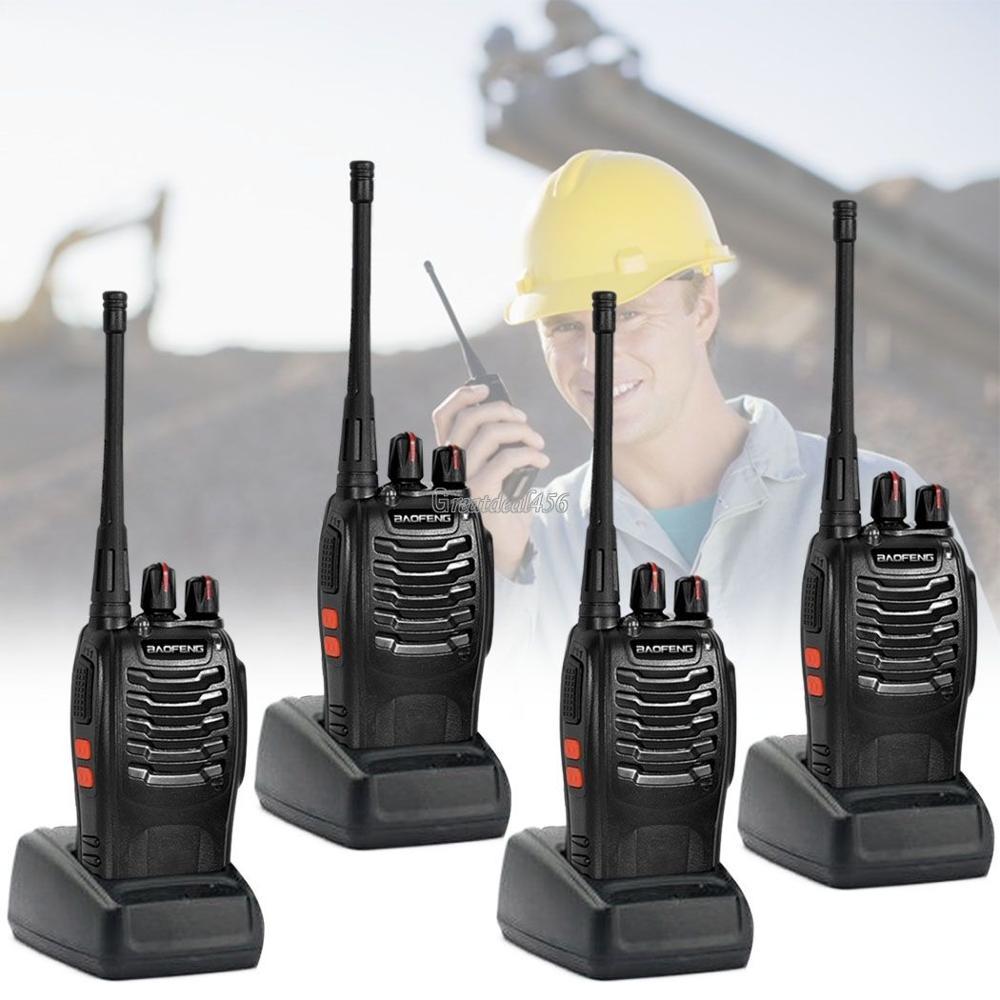 4 x Baofeng BF-888S Long Range Walkie Talkie UHF 400-470 MHZ 2-wege-radio 16CH + ohrhörer in Russland-moskau