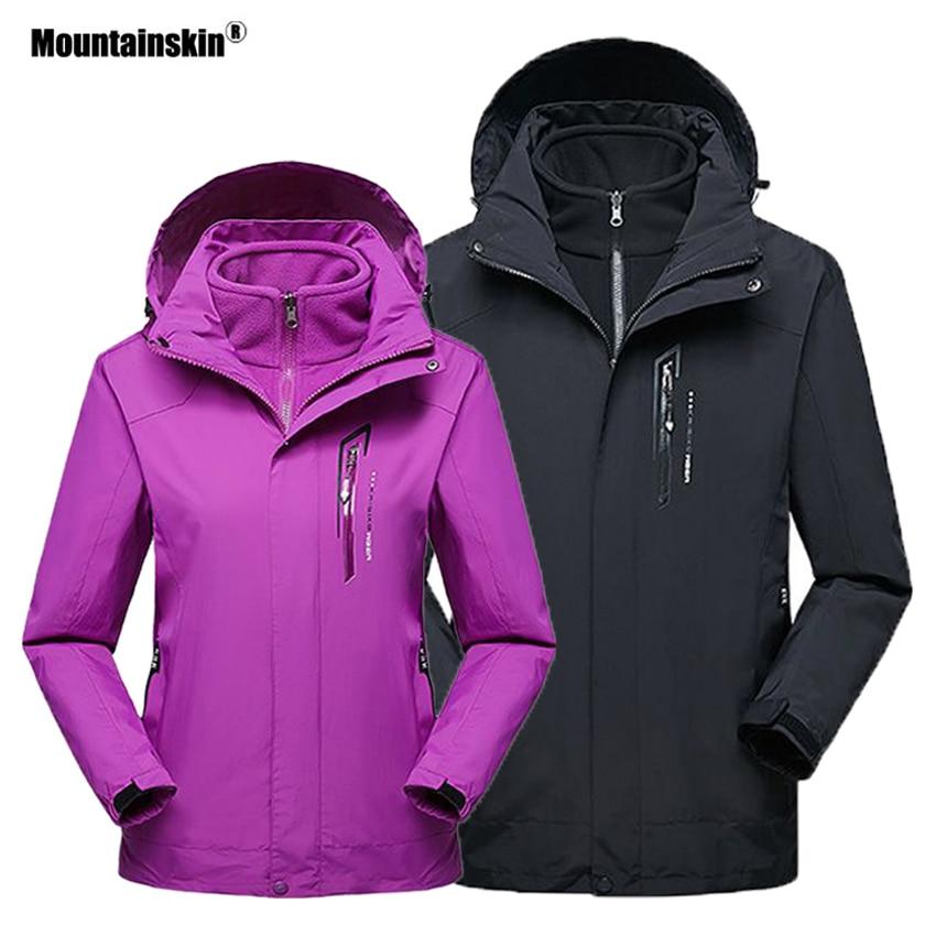 Mountainskin hombres mujeres 2 piezas chaqueta térmica de lana de invierno deporte al aire libre rompevientos senderismo Camping abrigos calientes VA324
