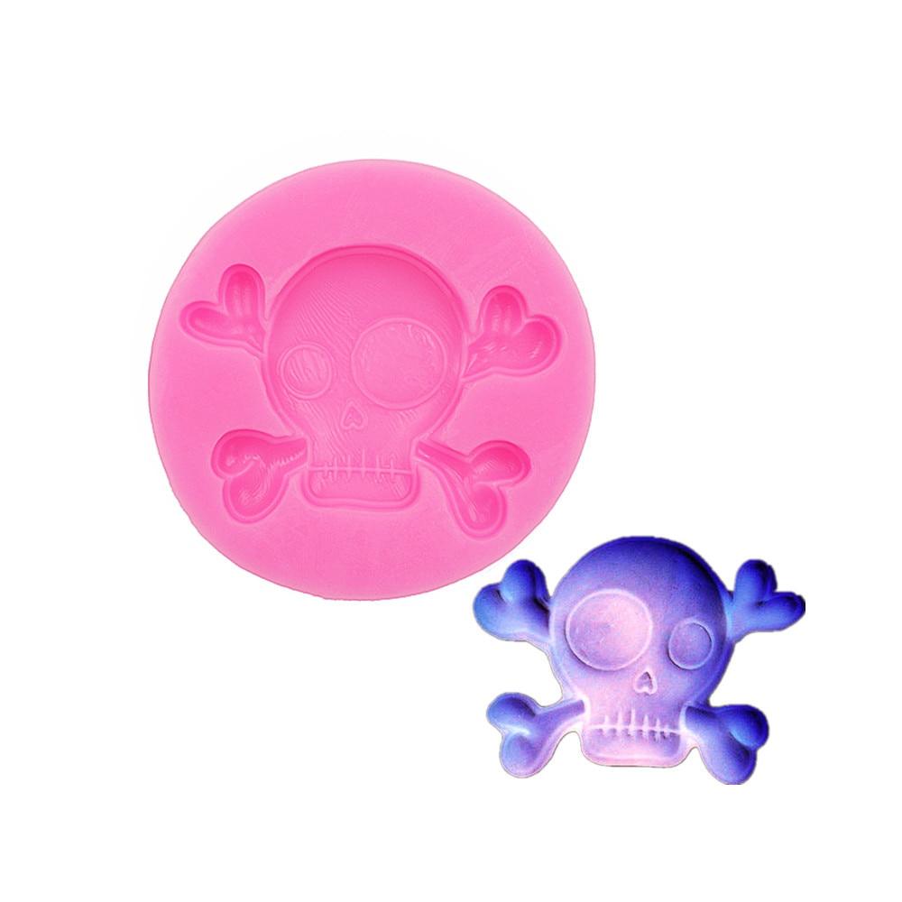 Gadgets  Fondant Molds  Skull Skeleton Head Cabochon  Silicone Bakery Push Flexible Mold   Skull Head Soap Silicone Mold DIY Han