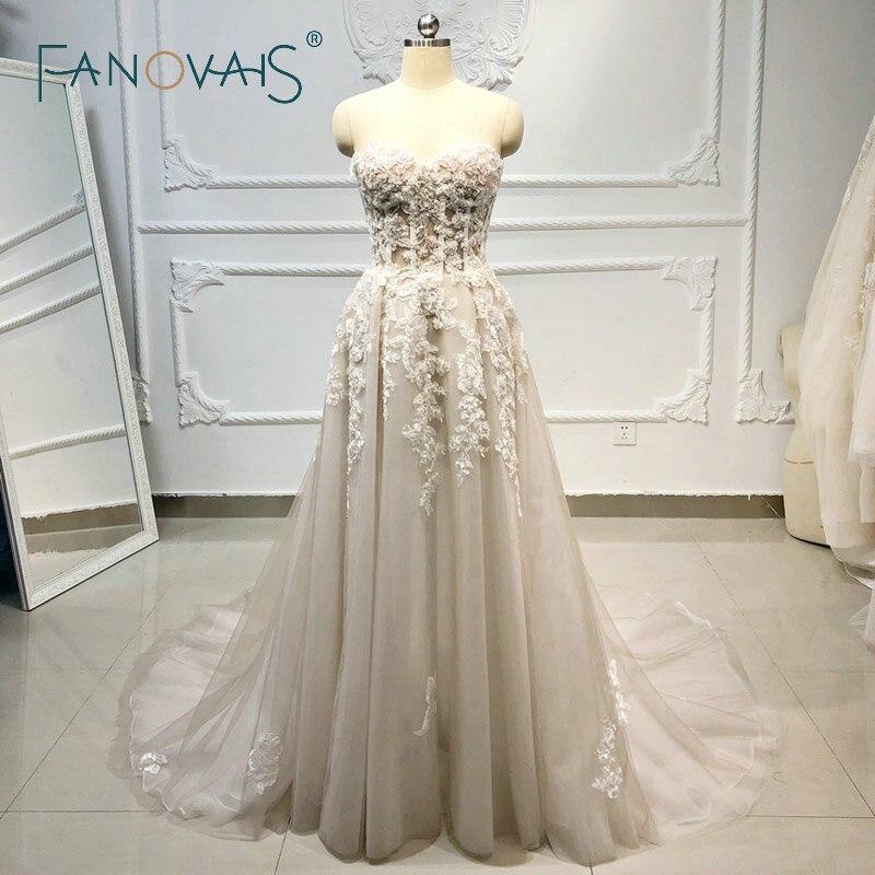 Praia boho vestidos de casamento 2020 frisado cristal rendas vestidos de casamento vestido de noiva vestido de noiva
