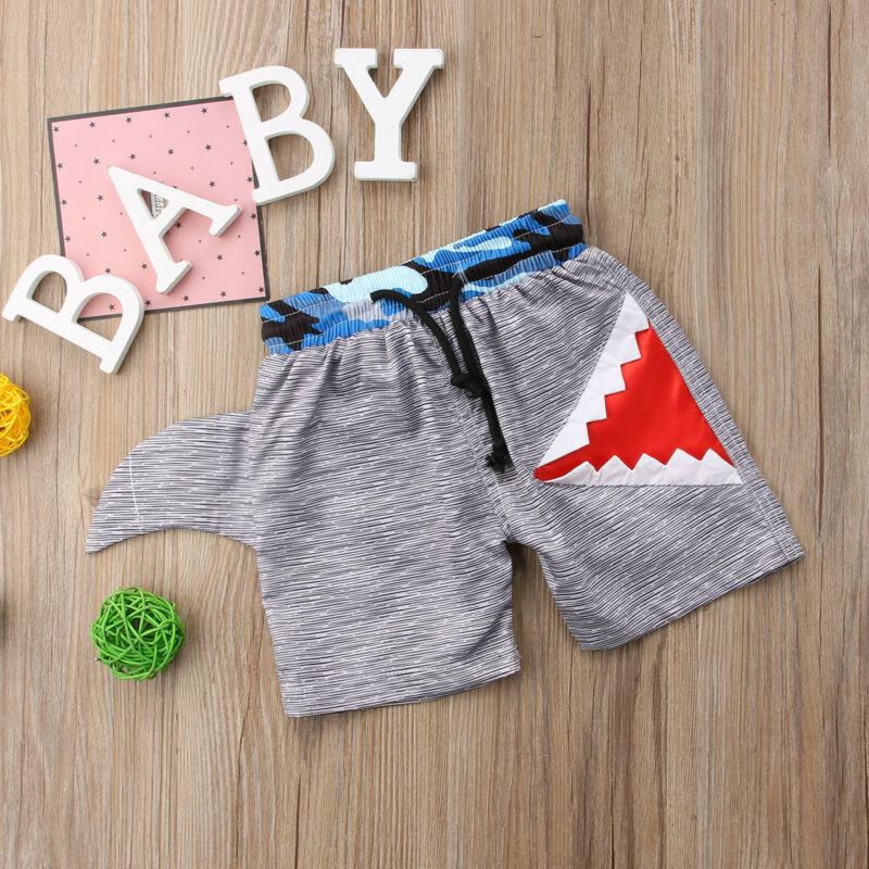 Niños bebé niños natación troncos nadar pantalones cortos 3D tiburón playa pantalones cortos de baño usar Plage Shortpants
