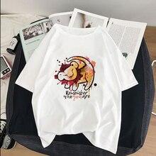 HAKUNA MATATA Remember who you are Lion King Simba Best Friend   graphic tees women harajuku kawaii streetwear plus size t shirt