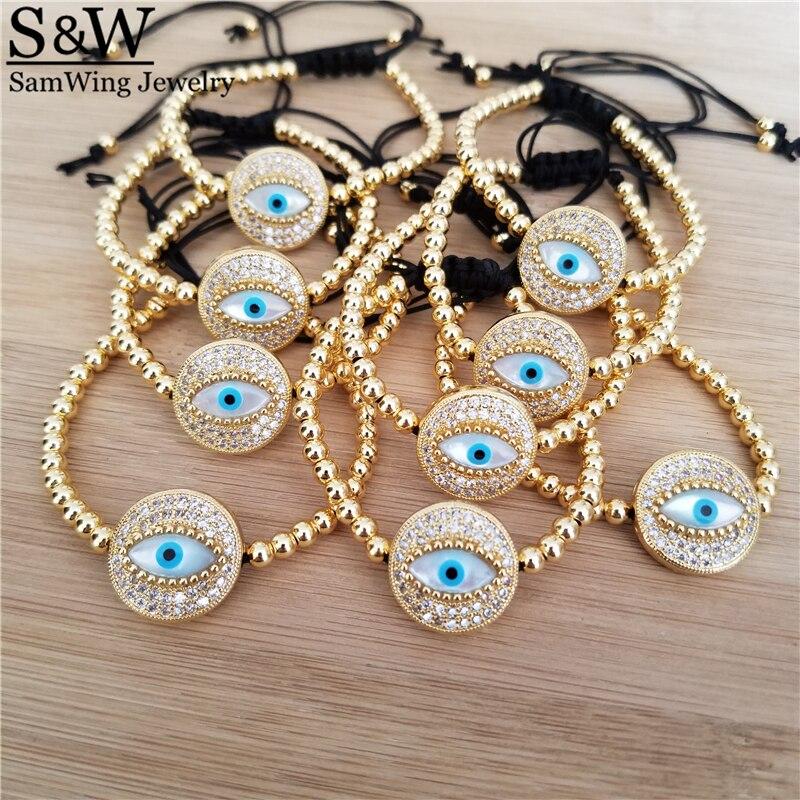 5 uds., venta al por mayor, trapeador azul intenso, pulsera turca con ojo de perla, mopa azul auténtica, joyería de Ojo Azul