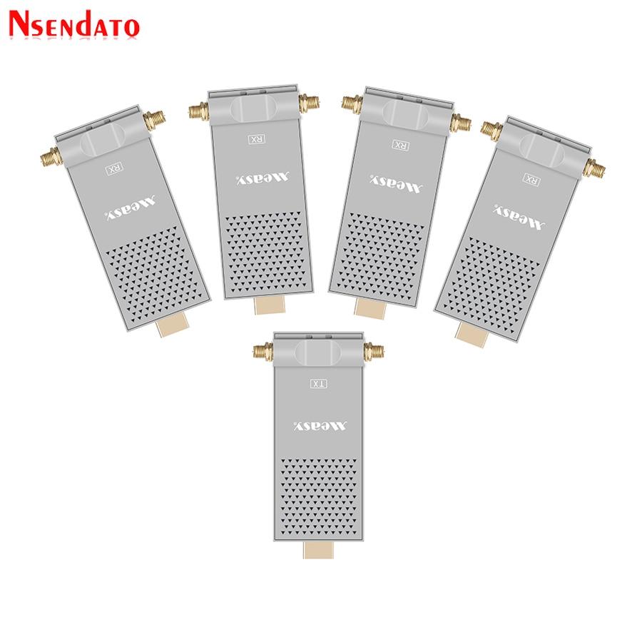 Air Prime4 200M/656FT 5,8 GHz WIFI inalámbrico HDMI Audio Video IR transmisor 1 emisor 4 receptor Kit para PC HDTV DVD Play