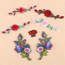 New arrival 10 pcs beautiful flower Embroidered patches iron on Fashion decor Motif repair hat bag A