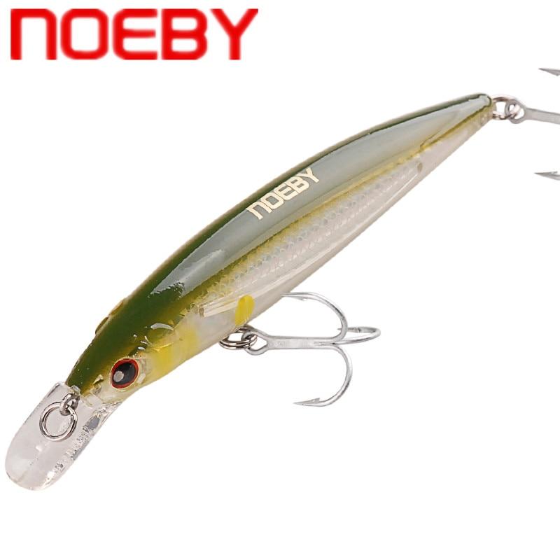 NOEBY Minnow Bait 100m/13.5g 120mm/22g Floating VMC Hook Isca Artificial Hard Bait Leurre Peche Mer Carp Fishing Wobblers Tackle
