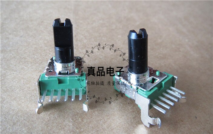 [VK] ALPHA B10K 142 importado Taiwán Doble 6 pin horizontal audio mezclador potenciómetro longitud de la manija 13MM interruptor