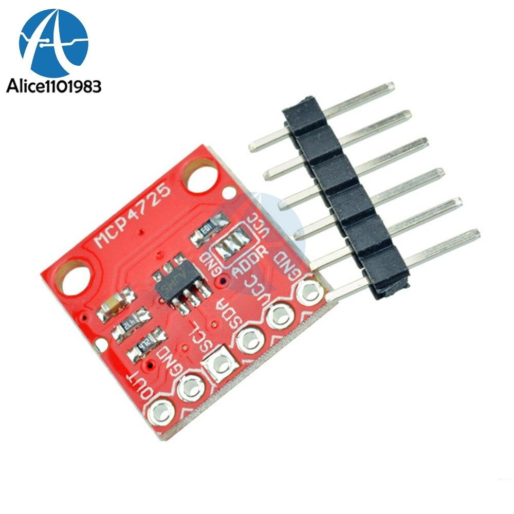 Mcp4725 cjmcu dac breakout módulo desenvolvimento microcontrolador breakout placa 12bit i2c iic módulo de interface eeprom 5.5v