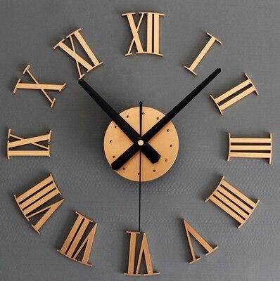 2016 New Home Decor Fashion Modern Quartz Clocks living room Diy Wall Clock 3D Meetting Room wall Clock  Free Shipping