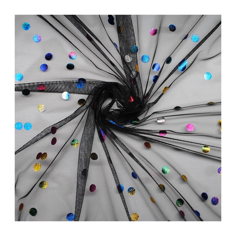 1meter High-grade Bronzing dot soft mesh fabric handmade diy custom dress skirt fabric designer special lace fabric