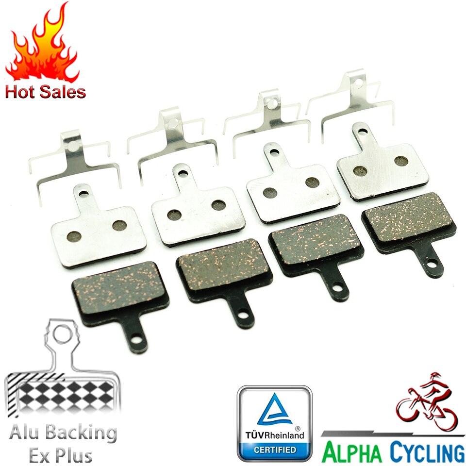 Freno de disco de bicicleta almohadillas para Shimano MT200 M375 M395 M486 M485 M475 M416 M446 M515 M445 M525 freno de disco Alu-aleación de EX Plus 2Pr
