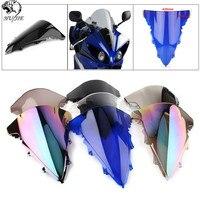 HotSale For Yamaha YZF 1000 R1 2009-2014 Black Windshield Windscreen Double Bubble YZF R1 2010 2011 2012 2013