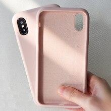 Оригинальный Простой Цветной силиконовый чехол для телефона iPhone 6 6S 7 8 Plus, милый мягкий чехол карамельного цвета для iPhone XR XS Max, чехлы
