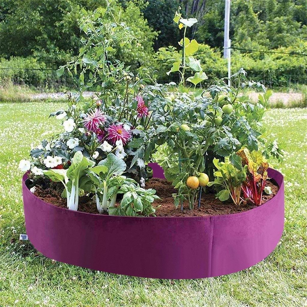 Bolsas de plantación púrpura, bolsas para plantador de fresas y patatas, bolsas para cultivo de vegetales, contenedor de tela, porta macetas, suministros de jardín