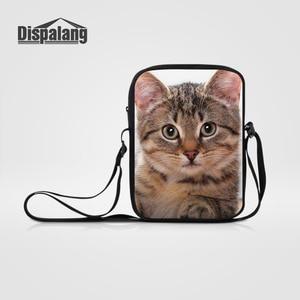 Dispalang Mini Messenger Bag for Women Men Designer Animal Cat Printing Children Crossbody Bags Casual Shoulder Bag Bolsos Mujer