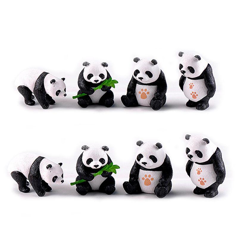 Фигурки миниатюрные смолы панды садовые растения цветочный горшок бонсай кукольный домик украшения дома аксессуары