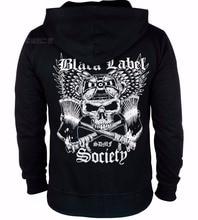 6 designs reißverschluss hoodies black label society baumwolle rocker shell jacke hardrock sweatshirtvlies sudadera schädel gitarre hero
