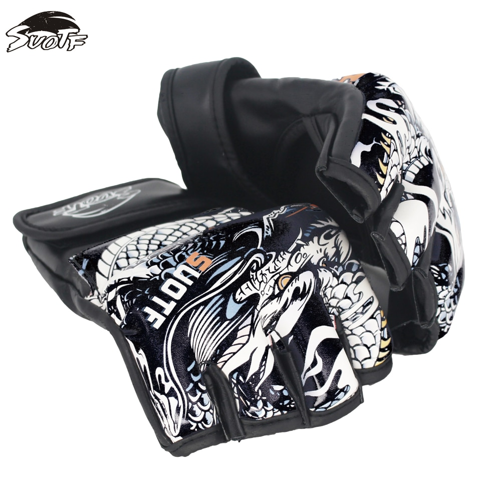 SUOTF chinois dragon combat tigre Muay Thai MMA boxe sport gants en cuir boîte de combat mma gants boxe sanda gant de boxe