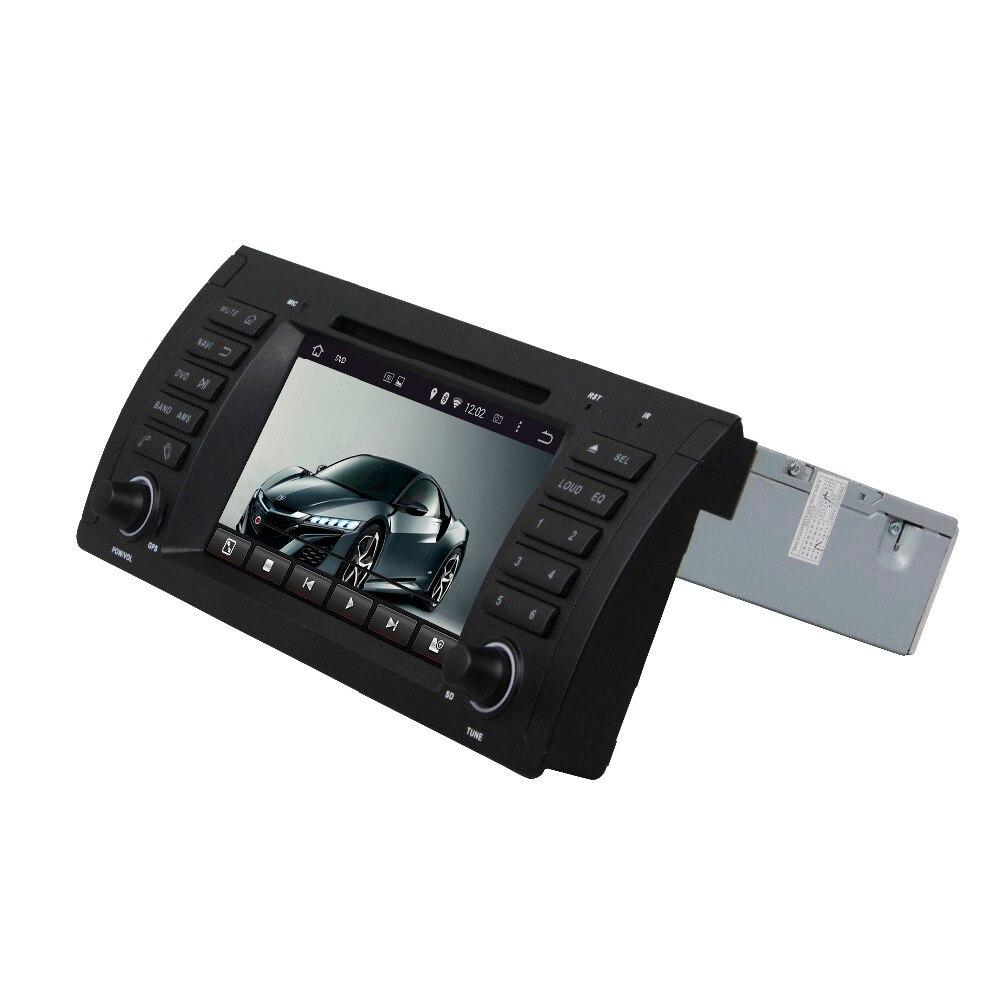 Android 8.0-Octa Core 7 pouces DVD de voiture   Pour BMW M5 E39 X5 E53 GPS 4 go de RAM Radio, Bluetooth WIFI, miroir USB