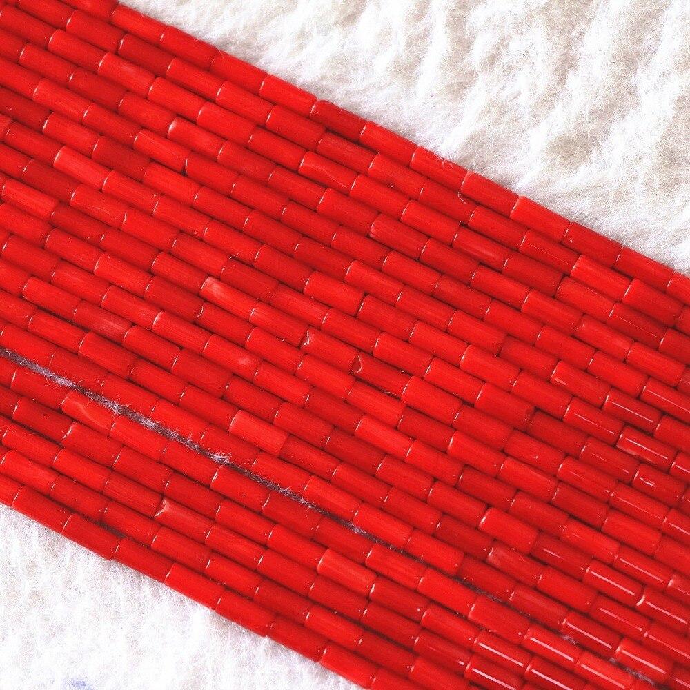 """Coral vermelho natural 5x2mm 9x2mm coluna & tubo novo diy jóias contas soltas 15 """"b608"""