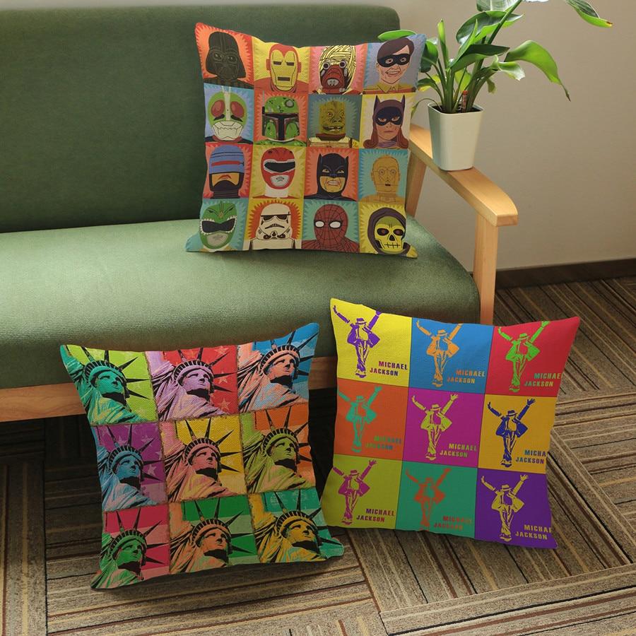 Coussin décoratif de siège auto avec dessin animé de Star Wars   Pour décoration de maison, canapé de célébrité Pop Art, Capa Almofada