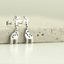 Daisies Cute Giraffe Stud Earrings Animal Jewelry For Birthday Party Gift Kids