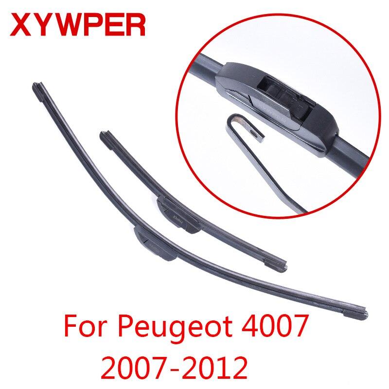 Limpiaparabrisas XYWPER para Peugeot 4007 2007 2008 2009 2010 2011 2012, accesorios de coche, limpiaparabrisas de goma suave