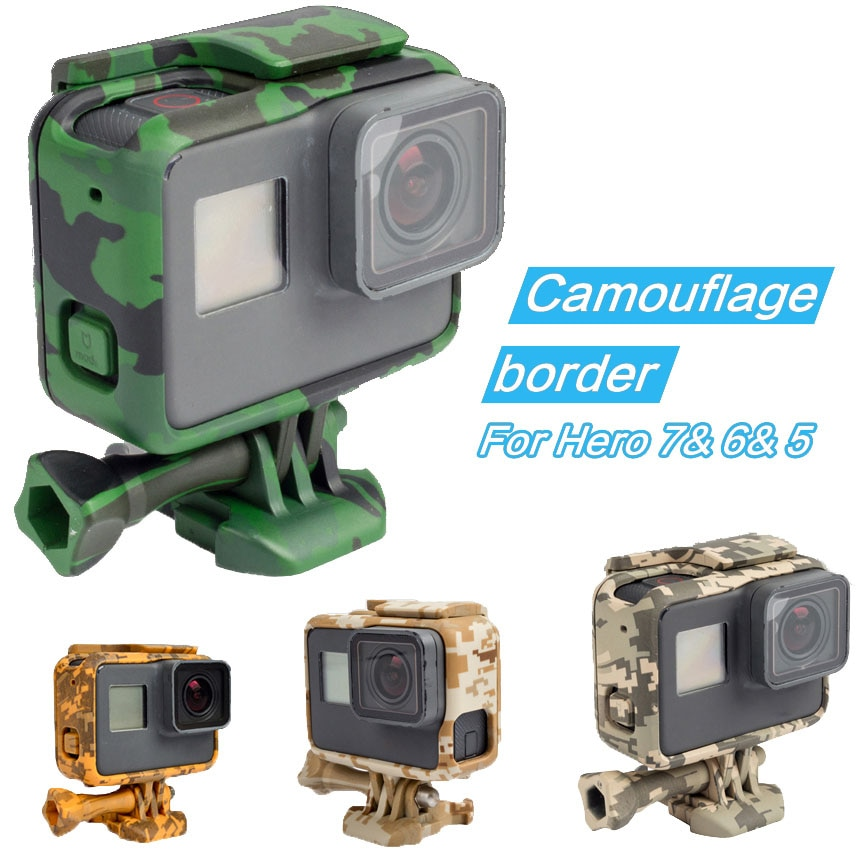 Side Open Protective Camouflage Border Frame Case for GoPro Hero 7 6 5 Black Sports Cam for Go Pro 7 6 5 Action Camera Accessory