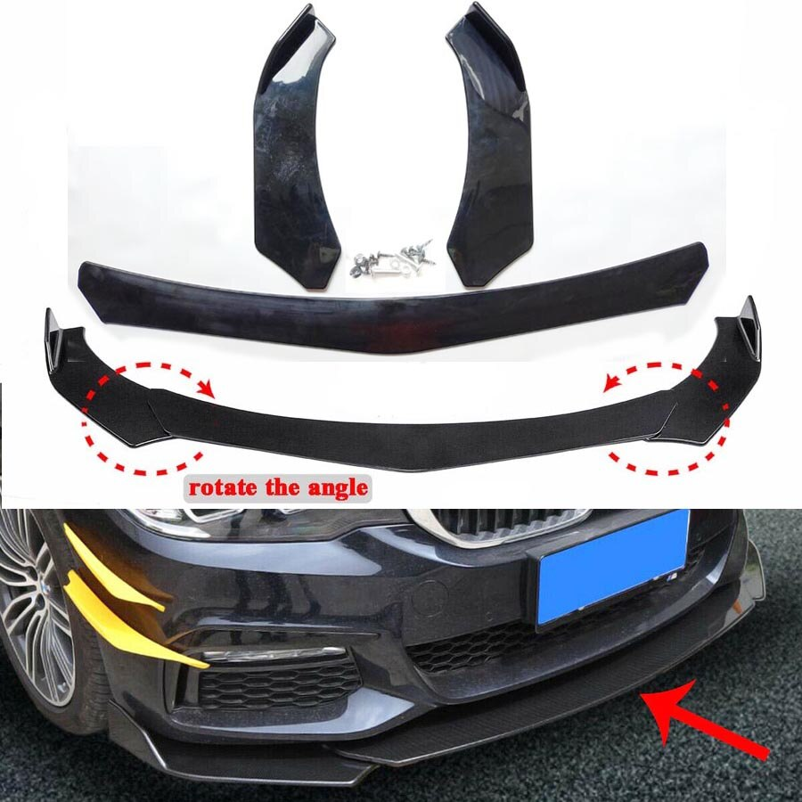 Universal frontal parachoques labio cuerpo Kit Spoiler para Honda para BMW para Benz para Mazda