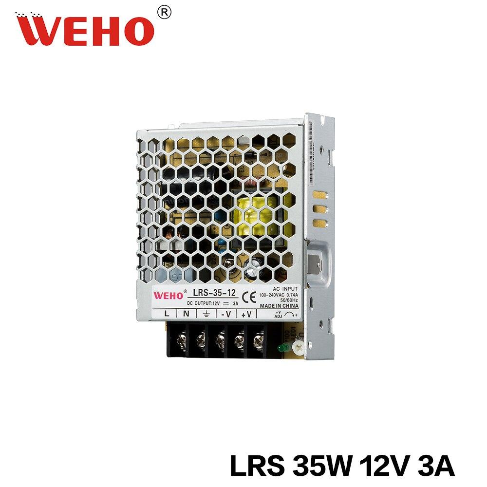 (LRS-35-12) weho tipo magro smps 30mm 35w 12v fonte de alimentação