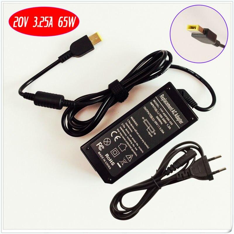 Para Lenovo/Thinkpad ADP-65XB un ADLX65NCC3A ADLX65NDC3A 36200291 portátil de 36200124 cargador de batería/adaptador de CA 20 V 3.25A 65 W