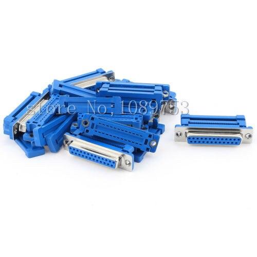 2 uds DB25 25 Pin hembra paralelo IDC Crimp conector para cable plano tipo cinta