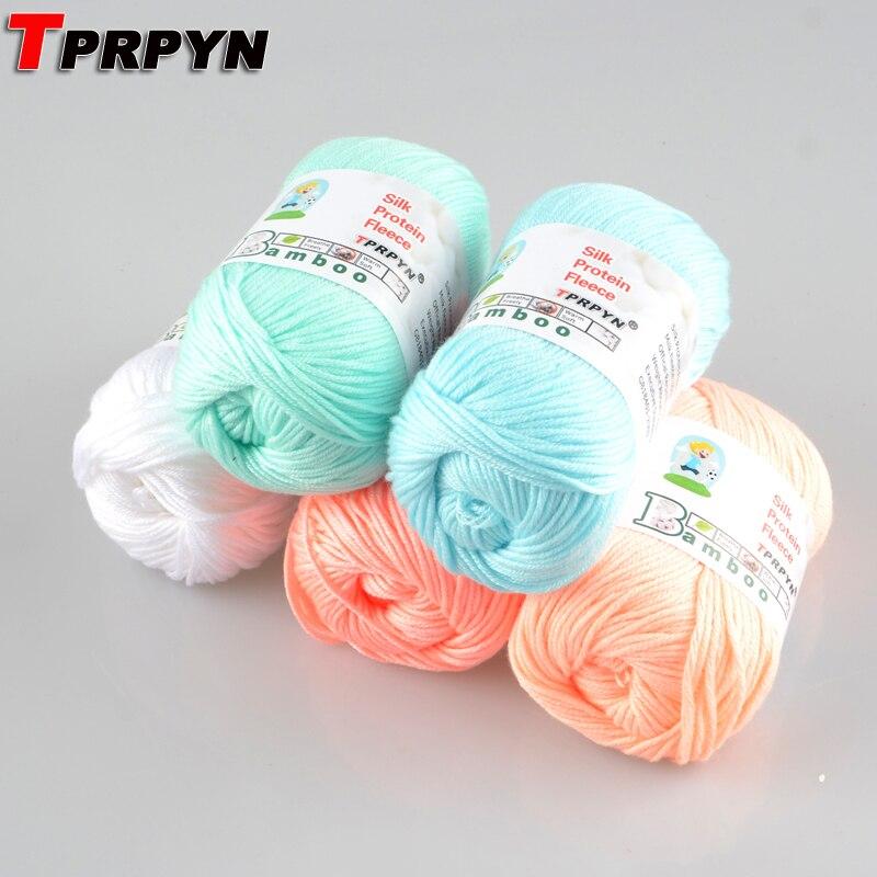 Tprpyn 1 pc = 50g misturado fio de lã para tricô boneca camisola belo fio nami