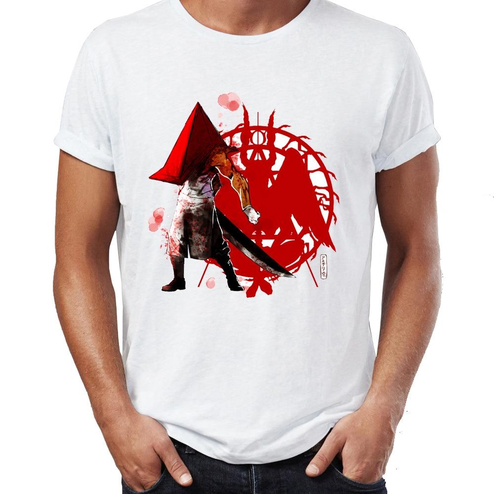 Camiseta para hombre The Dreadful Pyramid Head Silent Hill Monster Horror Gaming Villain impresionante obra de arte impreso
