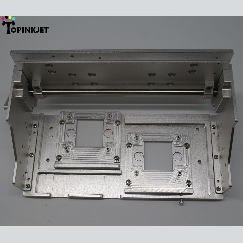 XP600 soporte de Metal de doble cabeza marco de soporte para montaje de máquina de impresión