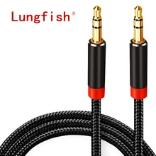 Lungfish AUX Cable Jack 3.5mm Audio Cable 3.5 mm Jack Speaker Cable 1m 2m 3m 5m for iphone Samsung x