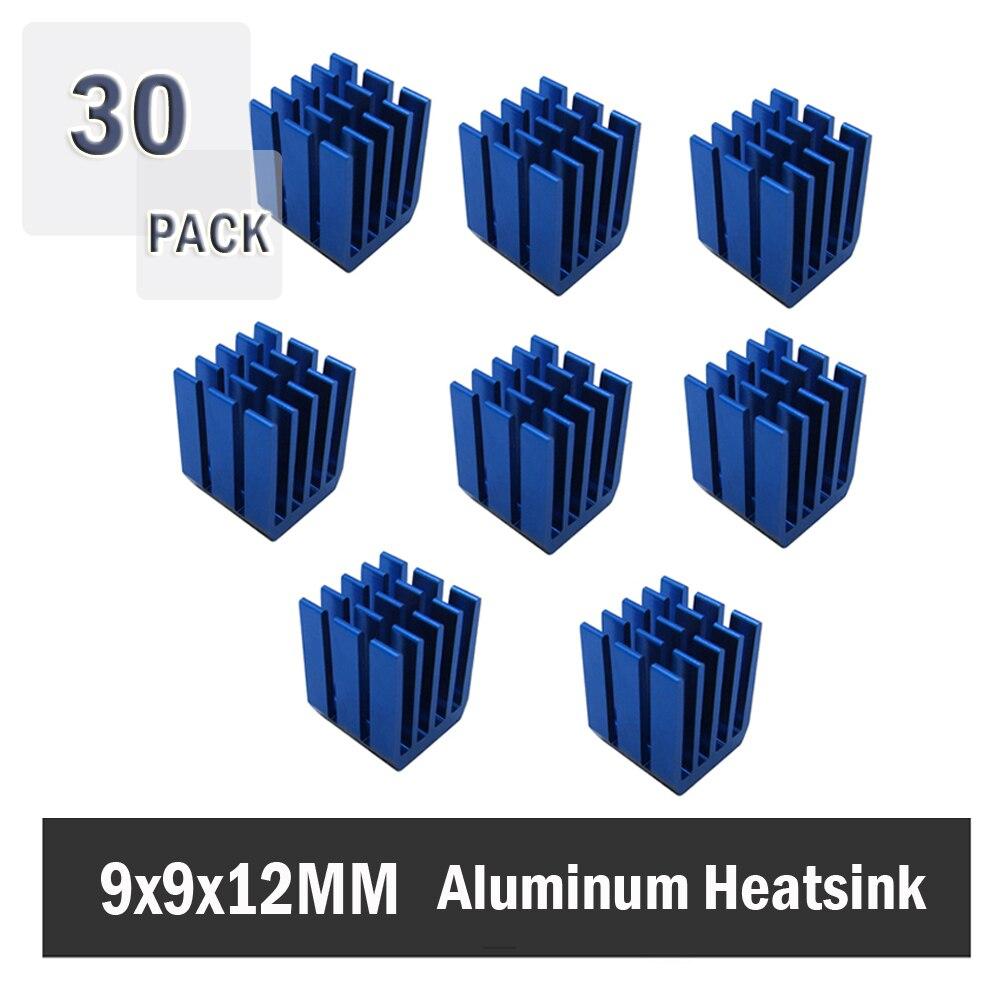 30 шт., алюминиевые радиаторы для охлаждения микросхем