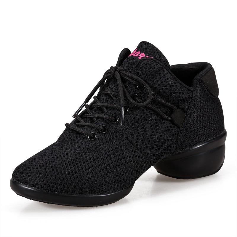 Zapatillas para mujer, Zapatos aeróbicos para mujer, Zapatos de baile para mujer, Zapatos de baile modernos para Salsa latina Jazz, Ventilación de baile para mujer