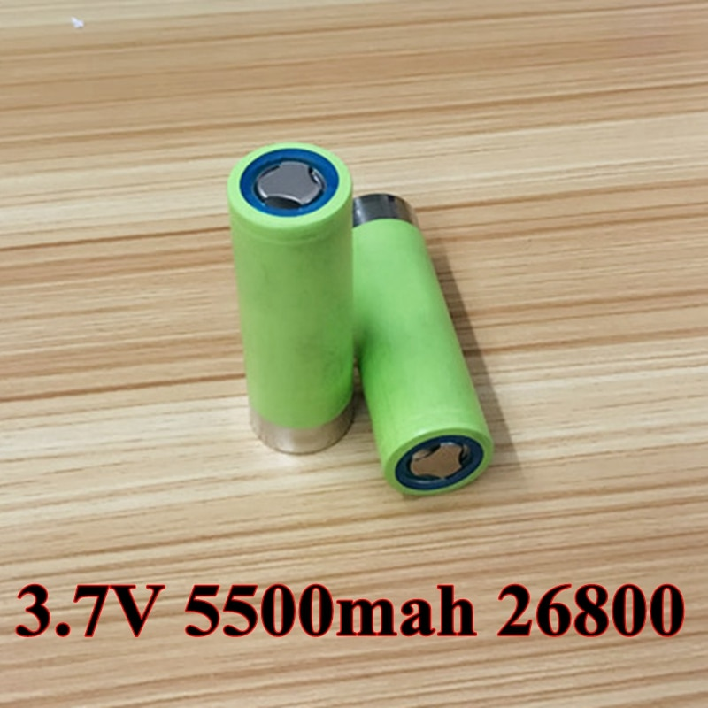 2 pcs/lot Li-ion 3.7 v 5500 mah 26800 5C décharge li-polymère batterie pour lampe de poche voiture électrique jouets stockage dénergie outils électriques