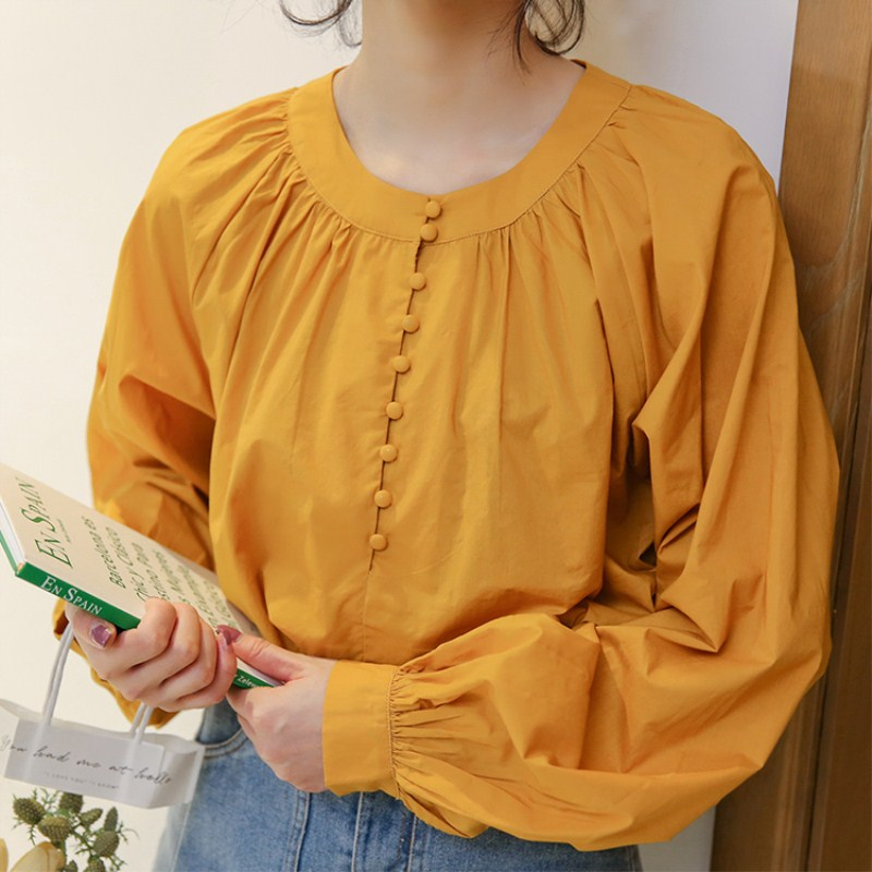 Korean fashion women plus size Loose ladies blouse shirts long sleeve cute baby doll blusa chemisier femme mori girl