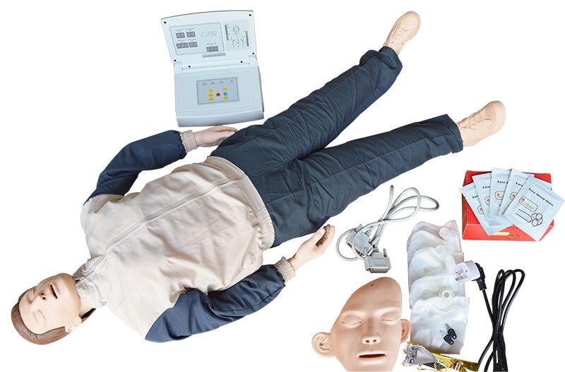 Maniquí de entrenamiento de CPR de cuerpo completo para adultos, modelo maniquí de primeros auxilios