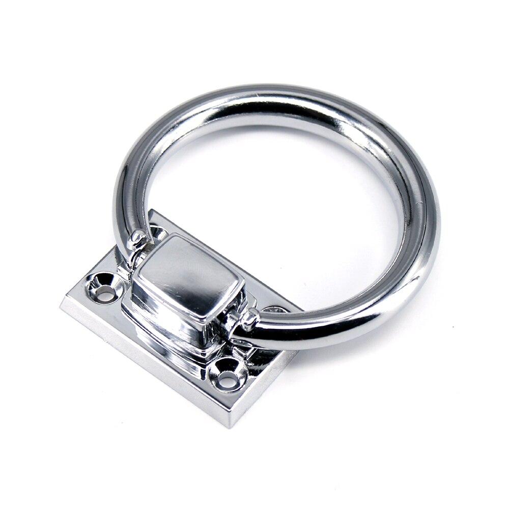 1 Uds Dia 73mm moderno Simple brillante plata gota anillos silla de madera anillo de aldaba tirador tiradores cajón