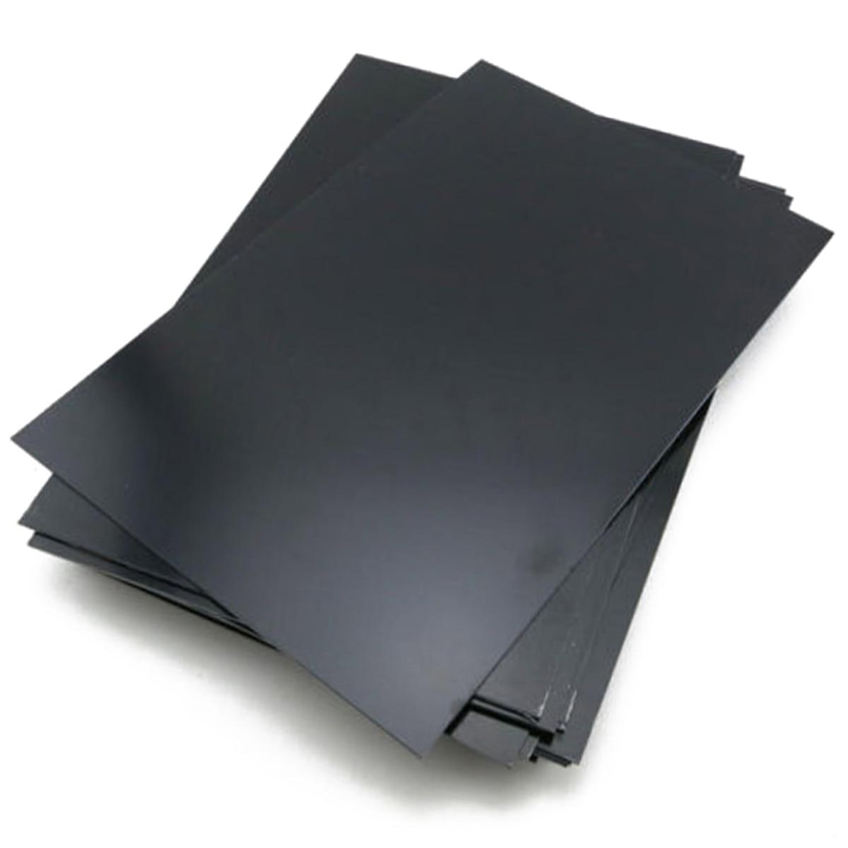 1 Uds nueva placa plana de plástico ABS estireno negro duradero 0,5mm de espesor